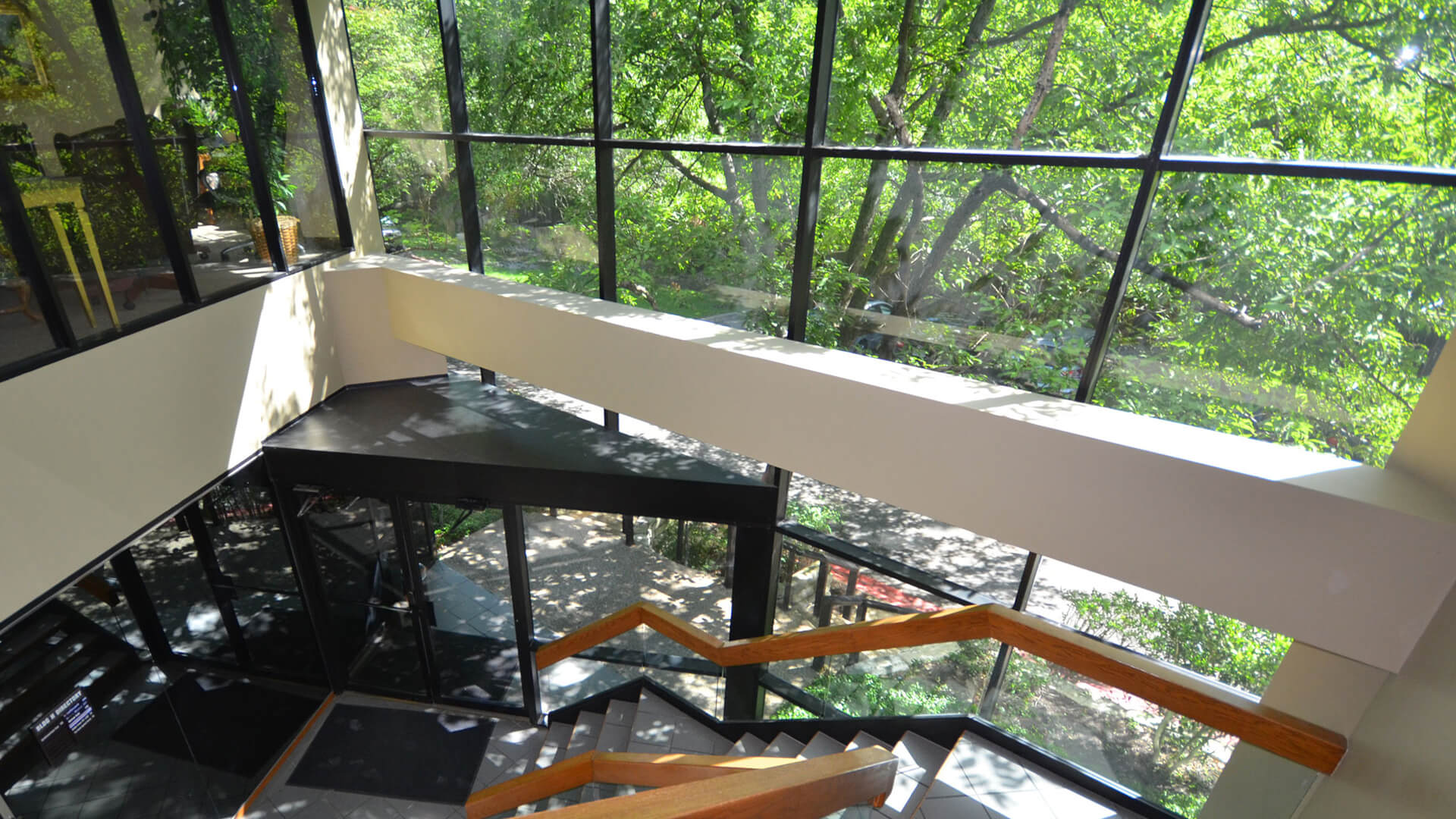 Westlake Oaks H Building Interior with view of Trees